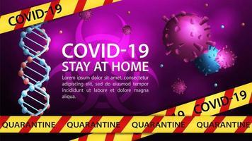 coronavirus gevaar sjabloon voor spandoek