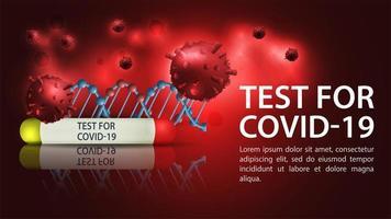 sjabloon voor spandoek van coronavirus testen