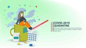 coronaviruspreventie en quarantainebanner