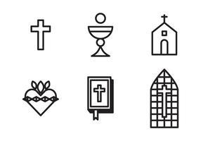 Religieuze Pictogrammen vector