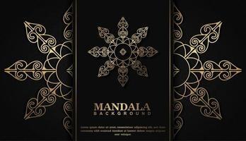 luxe mandala-ontwerp vector