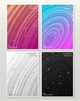 abstracte kleurrijke minimale cirkelpatroonafdekkingen