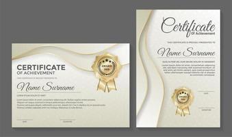 professionele lichtgekleurde certificaatsjablonen vector