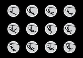Zipline Vector Pictogrammen