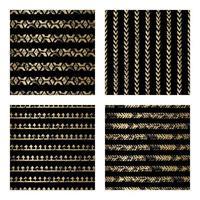 zwart en goud noodlijdende pijl naadloze patroon