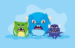 groep monsters ontwerp vector