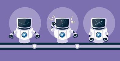 technologie robot over paarse achtergrond