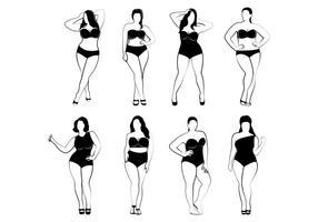 Plus grootte vrouwenvectoren vector