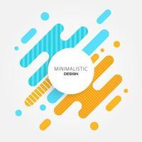 blauw en oranje abstract minimaal modern ontwerp