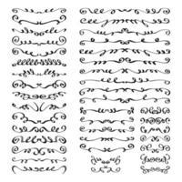 hand getekend ontwerp grens elementen collectie