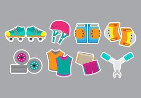 Roller Derby Pictogrammen vector