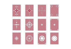 Gratis speelkaart terug vector