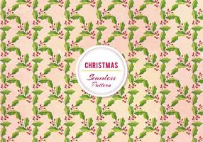 Gratis Vector Christmas Holly Pattern