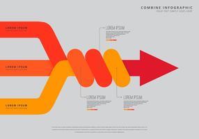 Combineer infografische sjabloon vector
