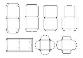 Pizza box layout vector
