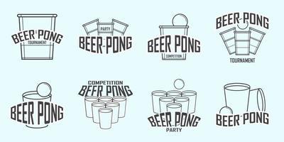 Gratis Bier Pong Logo Vector
