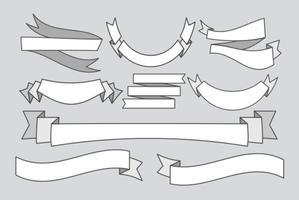 Vector Platte Lege Banners Linten