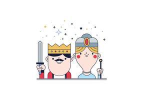 Gratis Koningen En Koningin Vector