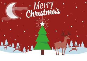 Gratis Vector Kerst Landschap