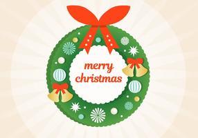 Gratis Vector Kerstkrans