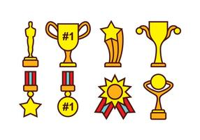 Gratis Award en Trophy Vector Pack