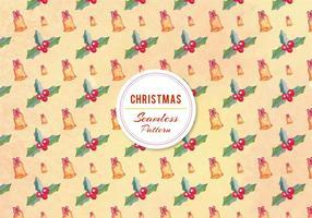 Gratis Vector Christmas Bell Pattern