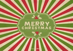 Vintage Sunburst Kerst Achtergrond vector