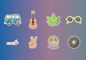 Gratis Hippie Stickers Vector