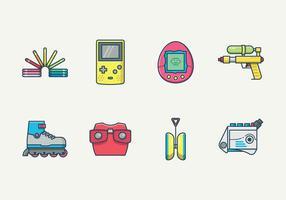 Gratis Retro Kinder Speelgoed Vector