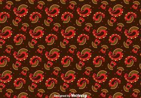 Rood En Oranje Kasjmier Ornament Patroon