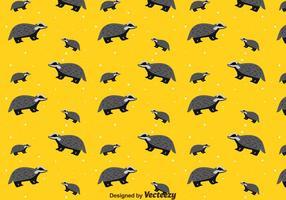 Naadloze Patroon Van De Honing Badger