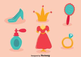 Prinses Bladzijde Element Vector