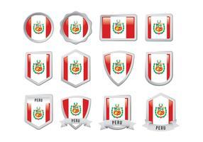 Gratis Peru Vlag Badge vector