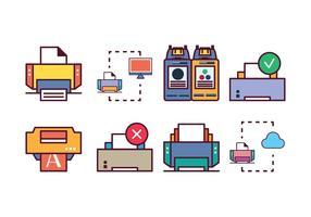 Gratis Printer Icon Set vector