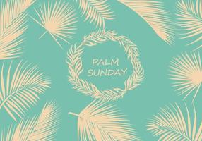 Palmzondag Achtergrond Vector