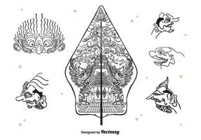 Wayang Pictogrammen Vector