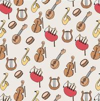 Muziekpatroon vector