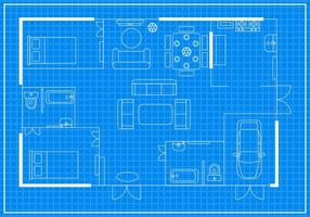Gratis Home Floorplan Vector