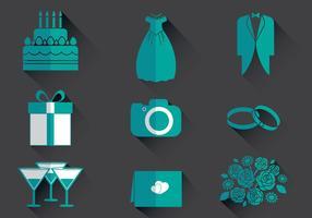 Iconenvector voor bruiloftplanner vector