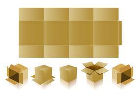 Basis Verpakkingen Met Die Gesneden Vectors