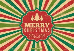 Retro Stijl Kerstmis Illustratie