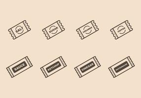 Sachet iconen vector