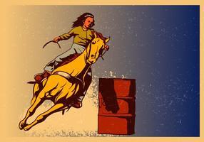 Uitvoering van de vrouw op het racen van de loop