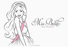 Gratis Miss Beauty Vector Illustratie