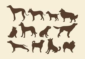 Sepia honden silhouetten vector