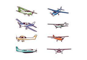 Gratis Cessna Vliegtuig Vector Pakket