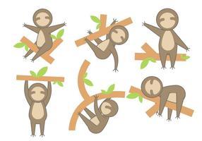 Gratis Cartoon Sloth Vector
