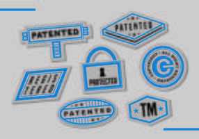 Patent Postzegels Vector Art