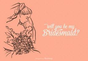 Gratis Vector Zal je Mijn Bruidsmeisje zijn