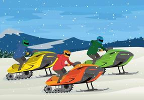Gratis Sneeuwscooter Illustratie